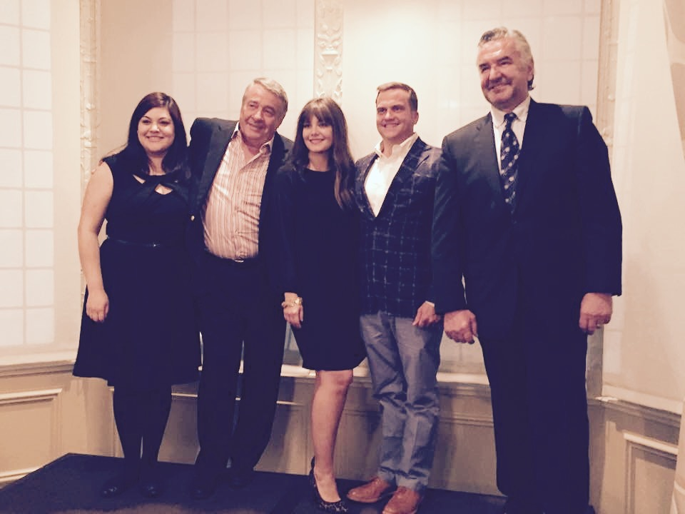 Wine & Gastronomy nominees pictured with the presenter, L to R: Anamarleny Alvarez Villa ( Lullaby ), Jacques Boiroux, Chantal Robert (Les Boulangers Associes, Inc.), Bryan Maletis ( Fat Cork ) and Jean-Claude Beck ( The Woodhouse Wine Estates ).