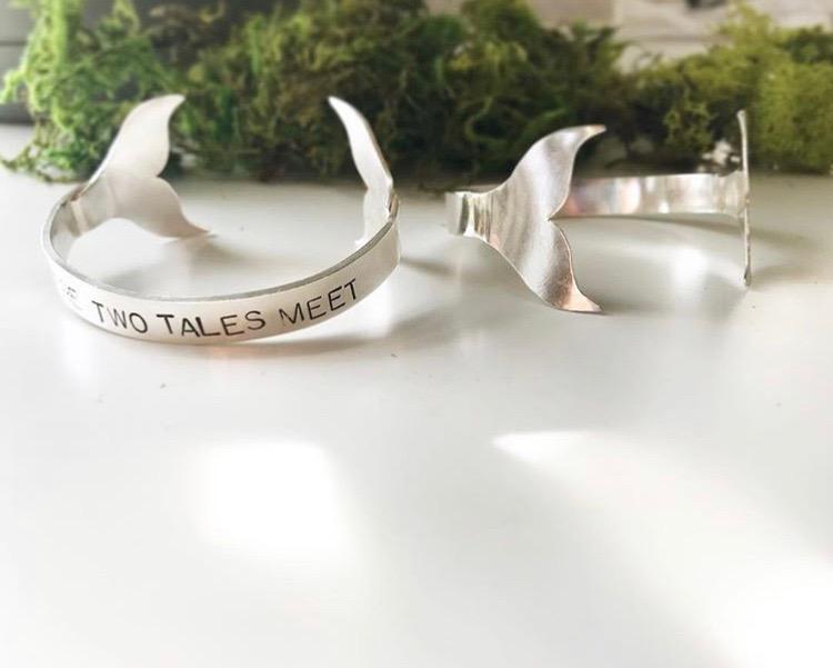Custom Whale Tail Bracelets