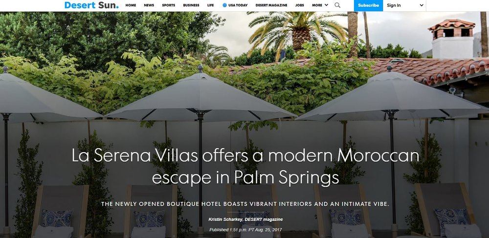 Desert sun - AUGUST 25, 2017 - LA SERENA VILLAS OFFERS A MODERN MOROCCAN ESCAPE IN PALM SPRINGS