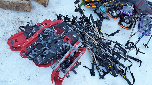 Snowshoes provided by MST Adventures.  Photo by Dr. Clayton Smith.
