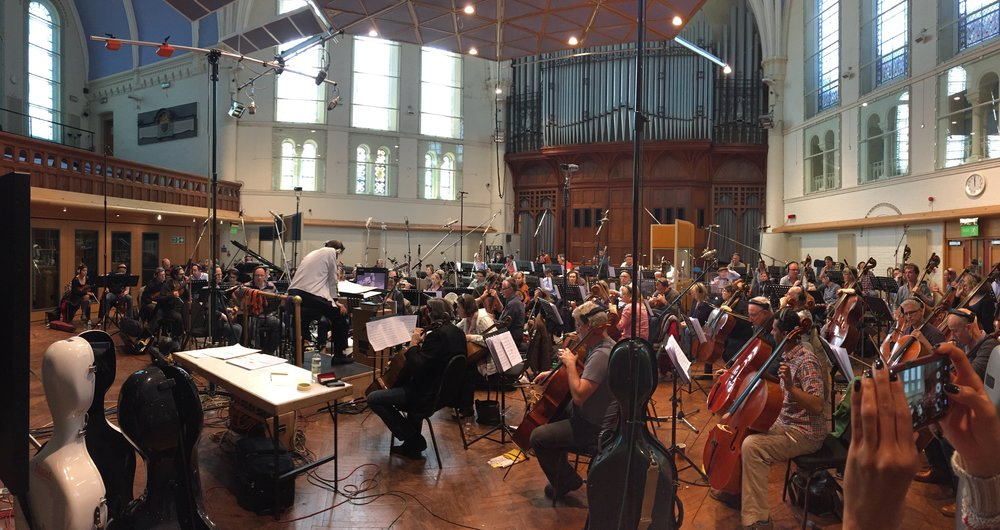 Kaska Conducting at Air Studios