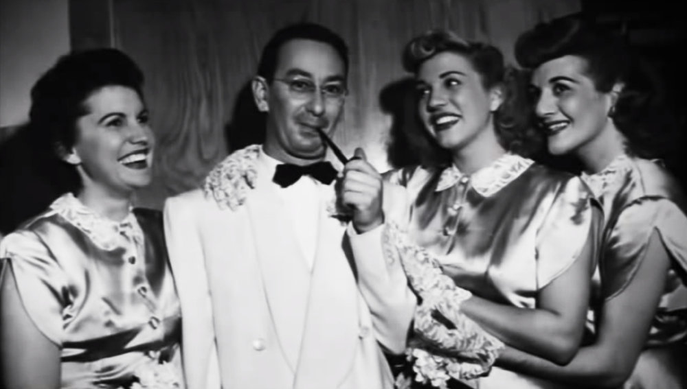 Kaska's Teacher Vic Schoen with the Andrews Sisters