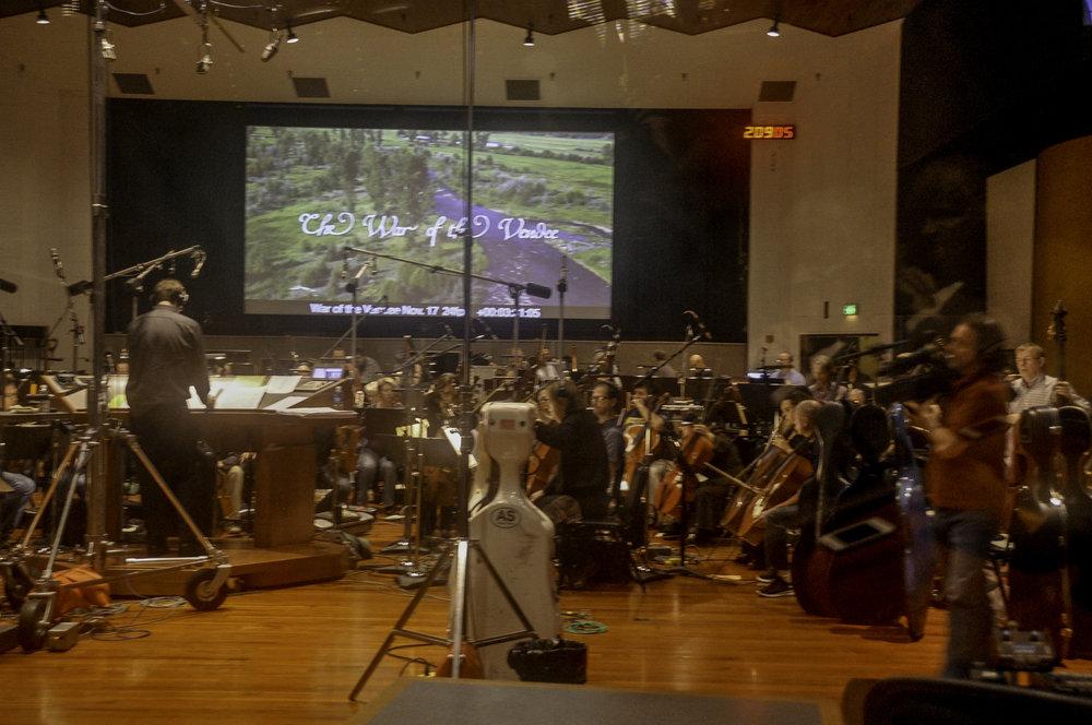 Kaska conducting at Warner Bros