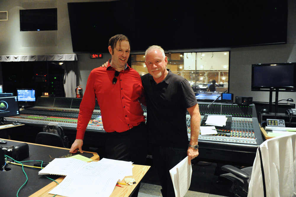 Kaska and John Debney at Sony