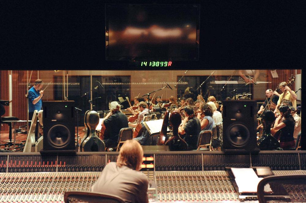 Kaska Conducting Orchestra At The Bridge