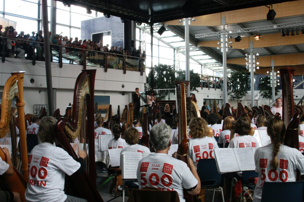 World Harp Congress in Amsterdam for Guinness Book of World Records
