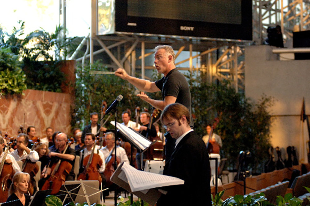 "Rehearsal of the ""Passion of the Christ Symphony"" with John Debney"