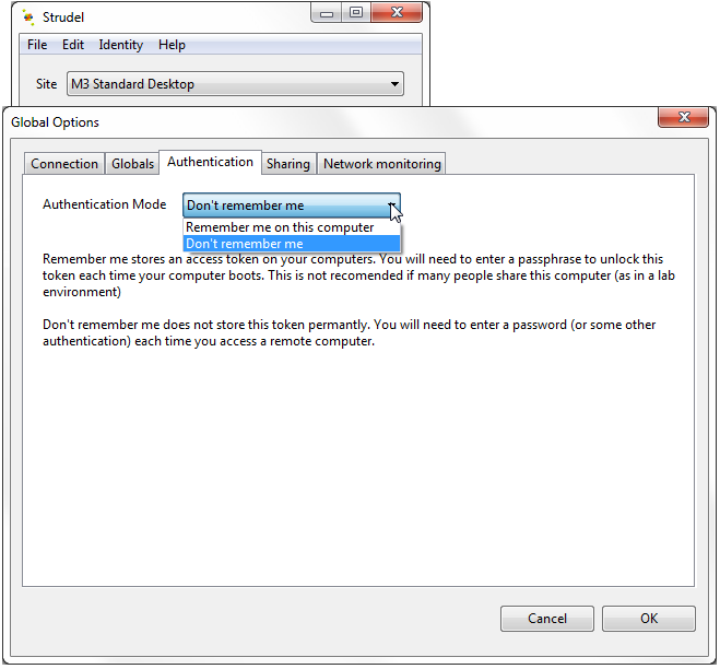 Fig. 5: step 6 - select your prefered authentication security option