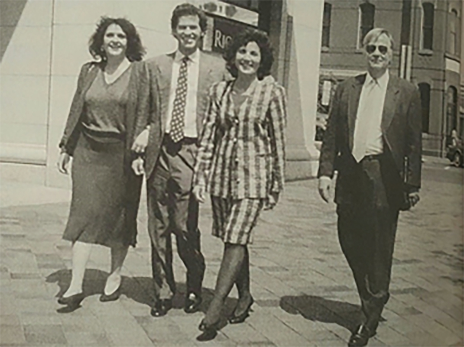 Nora Favelukes, Paul Hobbs, Elena Catena, and Alfredo Bartholomeus, selling Catena wines in Washington DC in 1993
