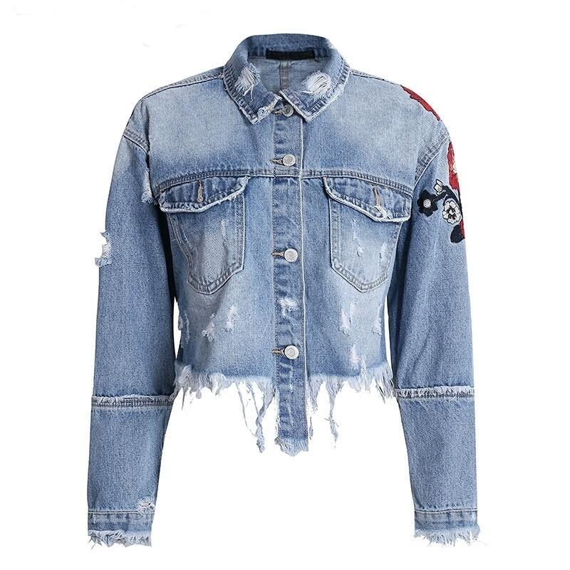 Shredded Denim Jacket