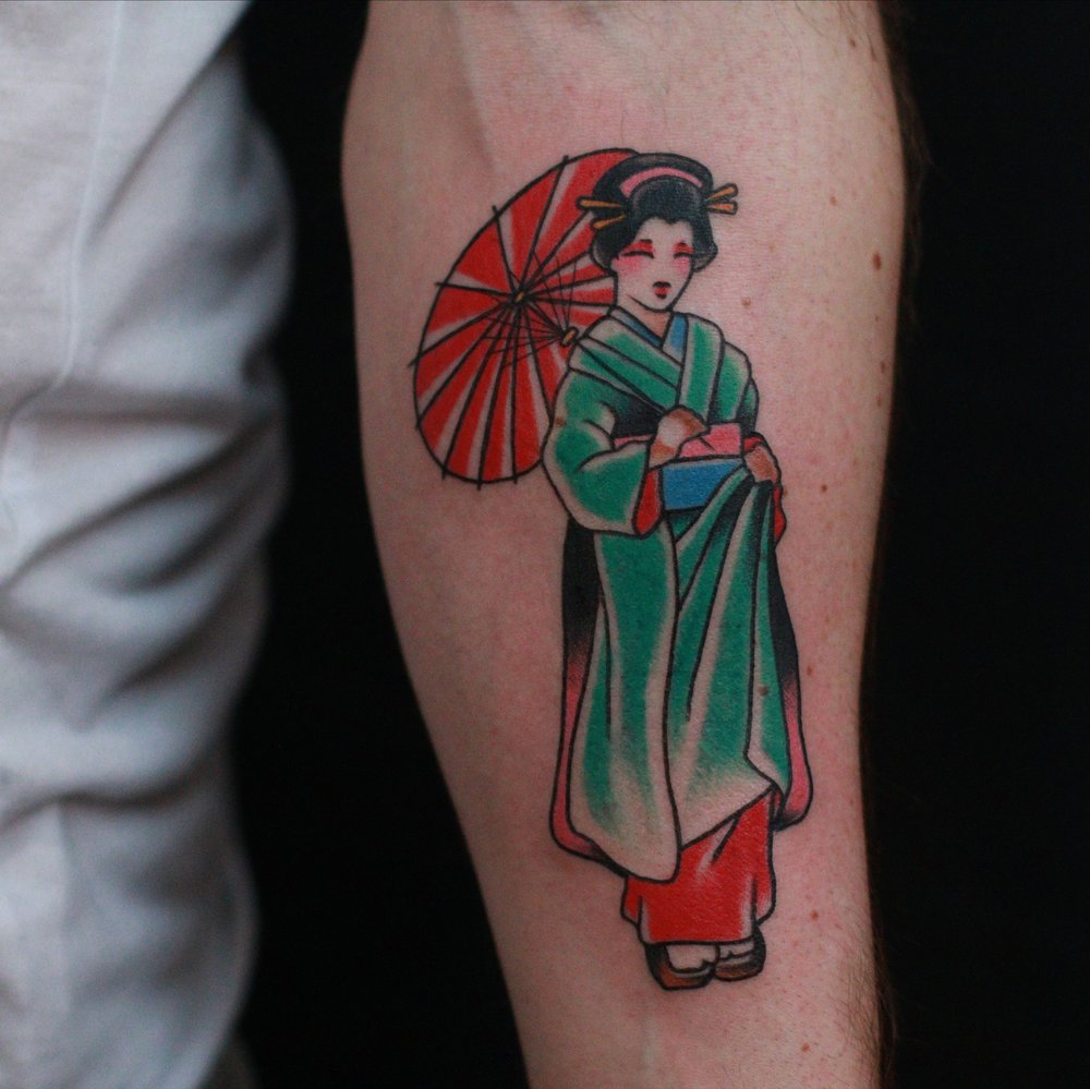 traditional geisha tattoo