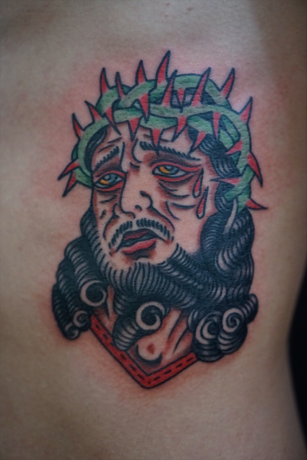 traditional jesus tattoo
