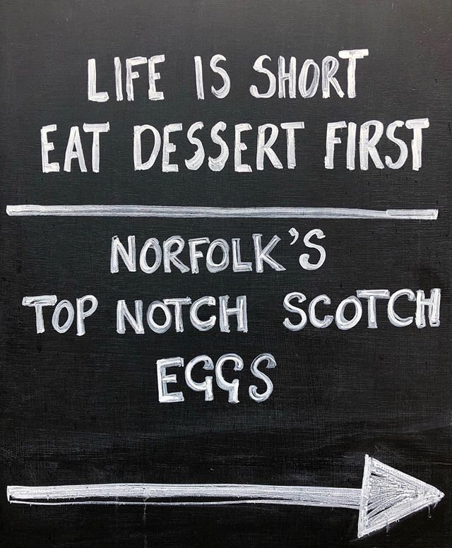 Life's short... we are open today till 4pm #livealittle #bankholiday #monday #instadaily #instagood #mondaymotivation #quote #homemade #norfolk #scotcheggs #delicious #eatdessertfirst #enjoy #easter #holidays #monday #tastesensation #taste #deli #holt #norfolk #blackboard #instafood #eat