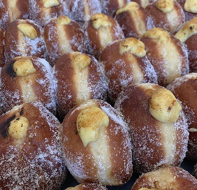 I cannot turn water into wine, but I can turn doughnuts into breakfast! 'Crema Catolana SoughdoughNutz' from the marvel that is @pastonacre available now from our flagship store in Cley #doughnuttime #goodmorningworld #breakfast #itstheweekend #cheatday #enjoy #eat #treatyourself #fresh #today #todaysbake #crema #tastesensation #brunch #norfolk #local #cleynextthesea #delicious #tasty #foodie #food #bake #doughnuts #saturday #eatingfortheinsta