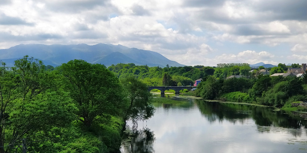 Killorglin town on the edge of the river Laune in the heart of the Reeks District