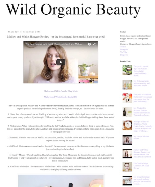 """THE BEST  Soothe mask """"the best natural face mask I have ever tried!"""".   Wild Organic Beauty"""