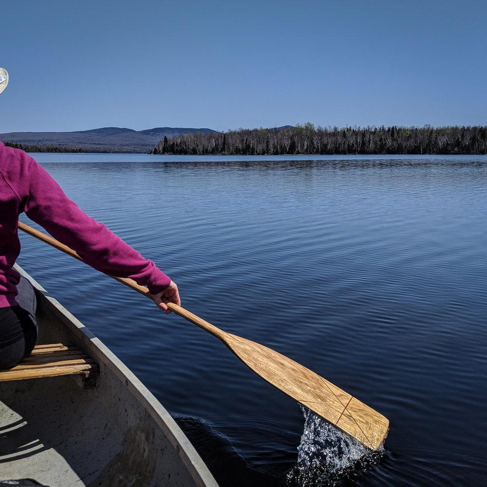 Exploration: Lac-aux-araignées - Et on teste les pagaies!