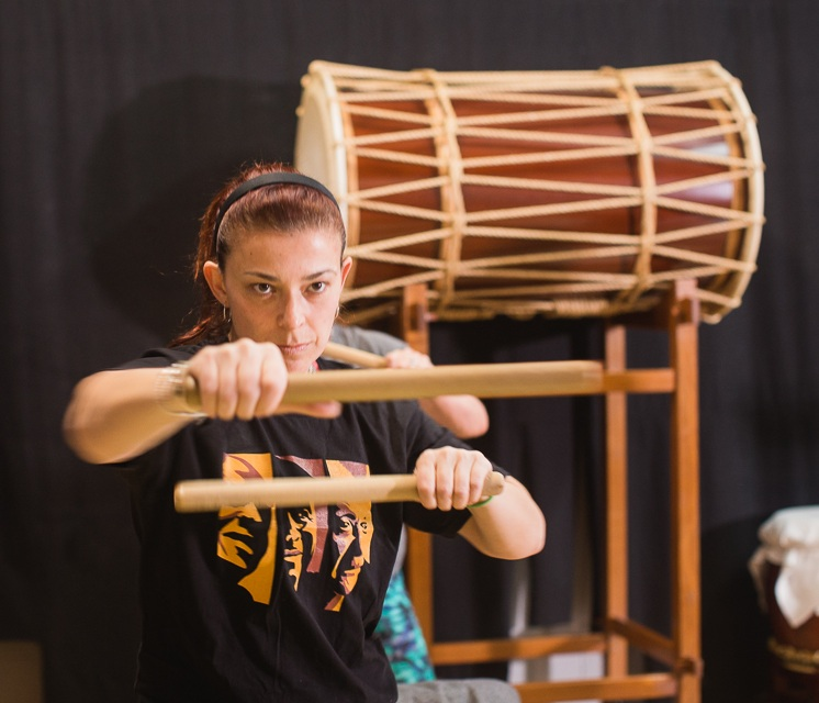 TaikoFit - TaikoFit takes cardio drumming to the next level with added excitement and power of the booming taiko drums and a more intense workout from using sturdy bachi sticks.