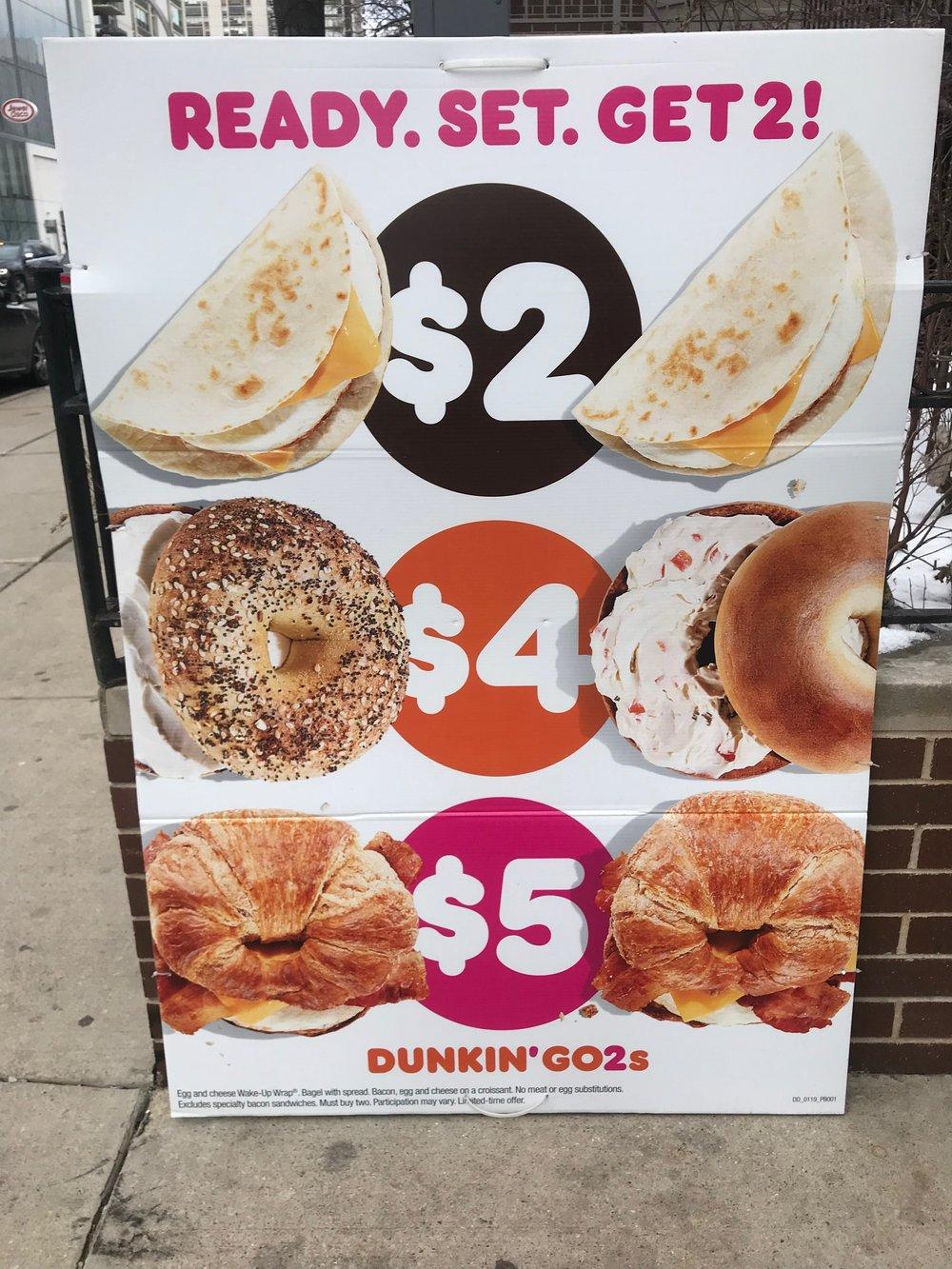 Dunkin' (Donuts} Sandwiches