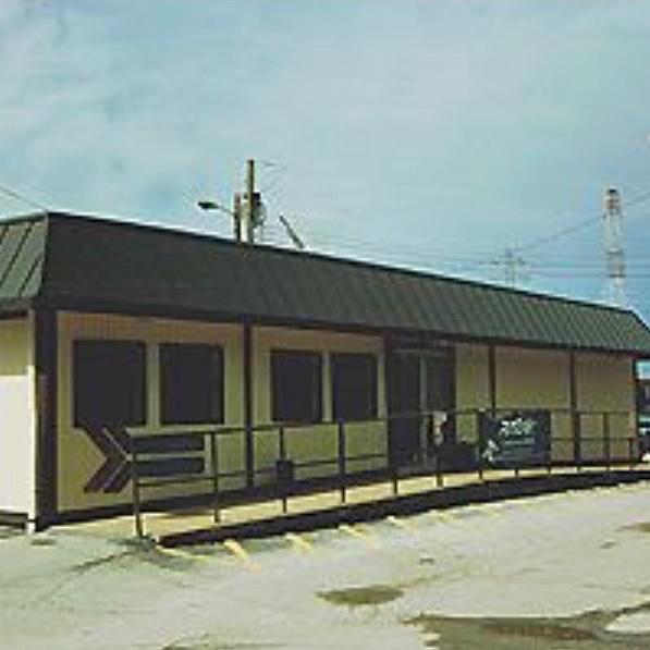 Amtrack's interim Amshack station
