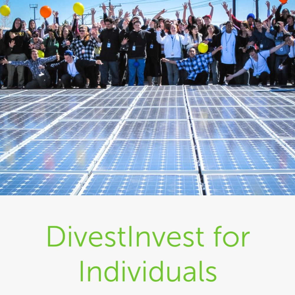 Divest fossil fuel stocks; invest in Green ones.