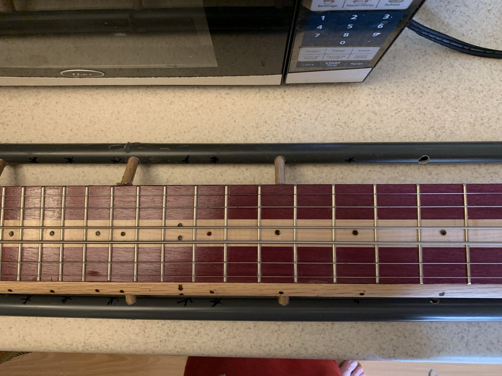 Front view of the guitar Jeri is playing