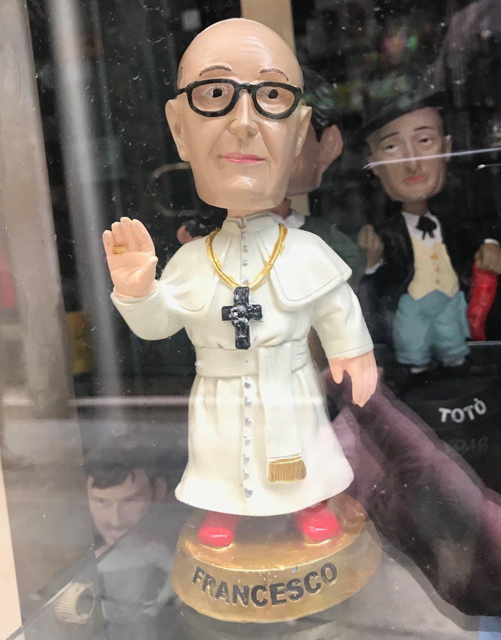 Bobble-head Pope Francis (really)