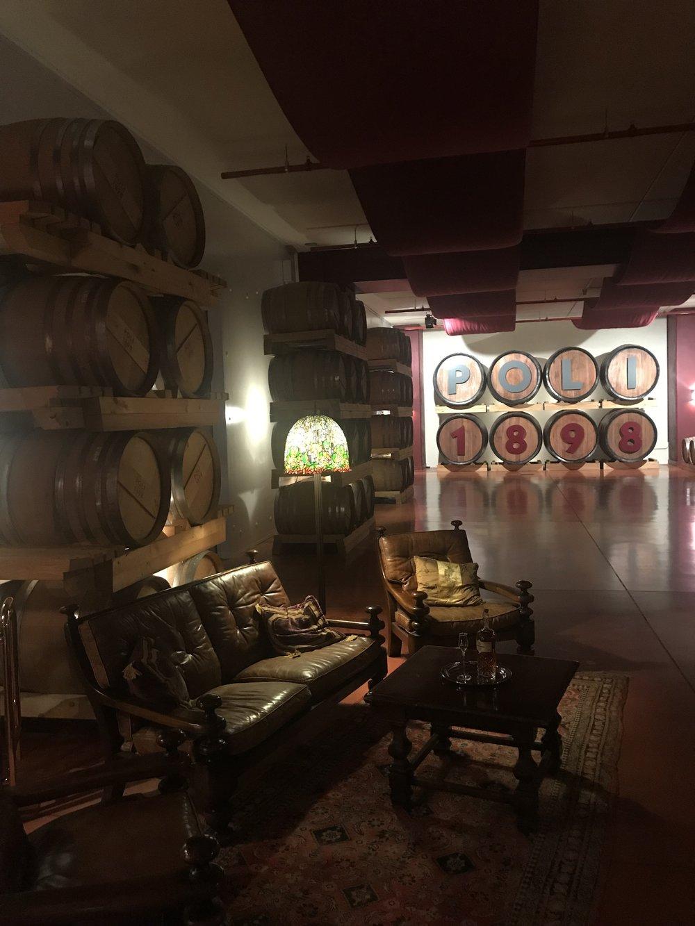 Tasting Room at Poli Grappa