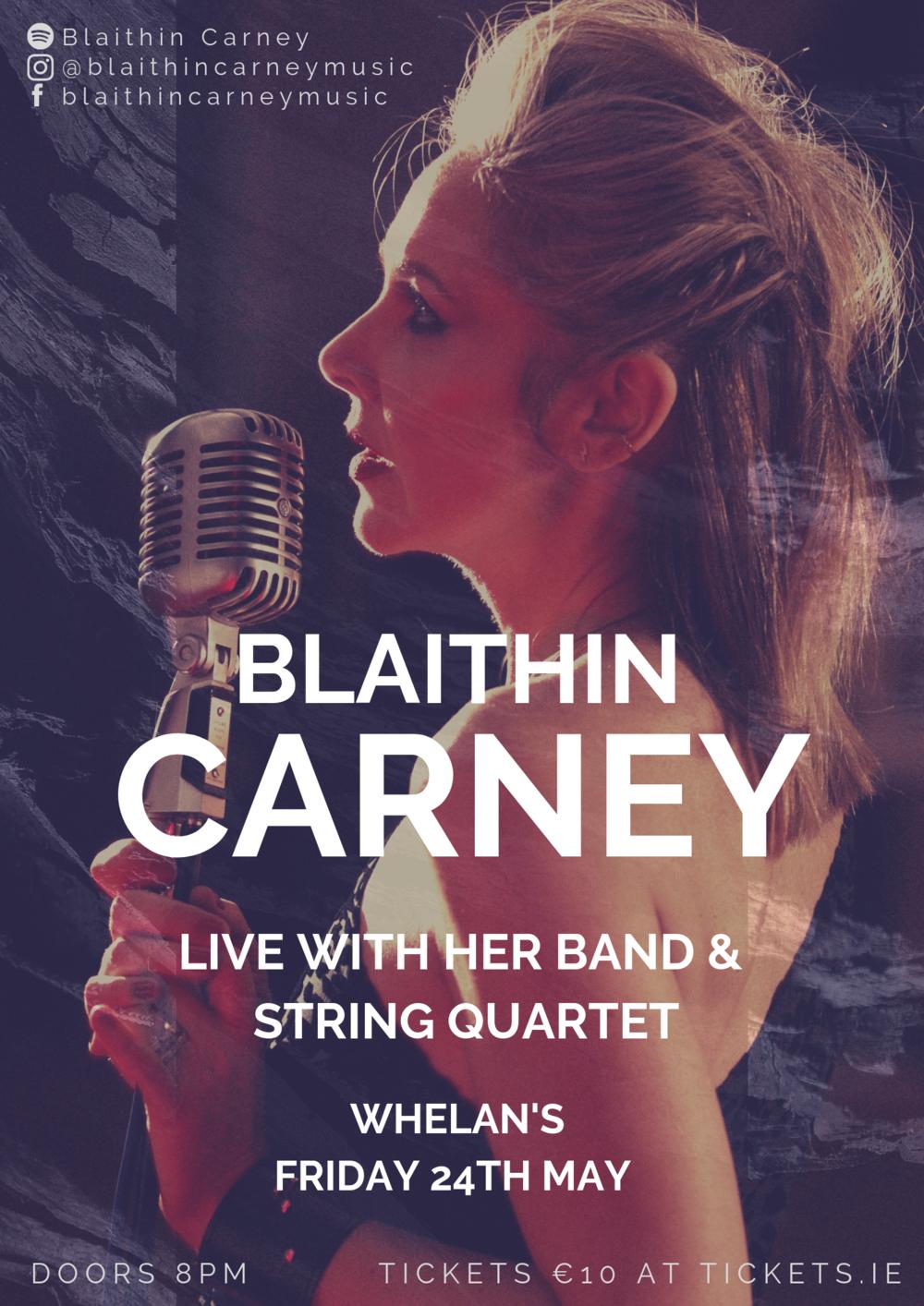 blaithin carney live at whelans poster