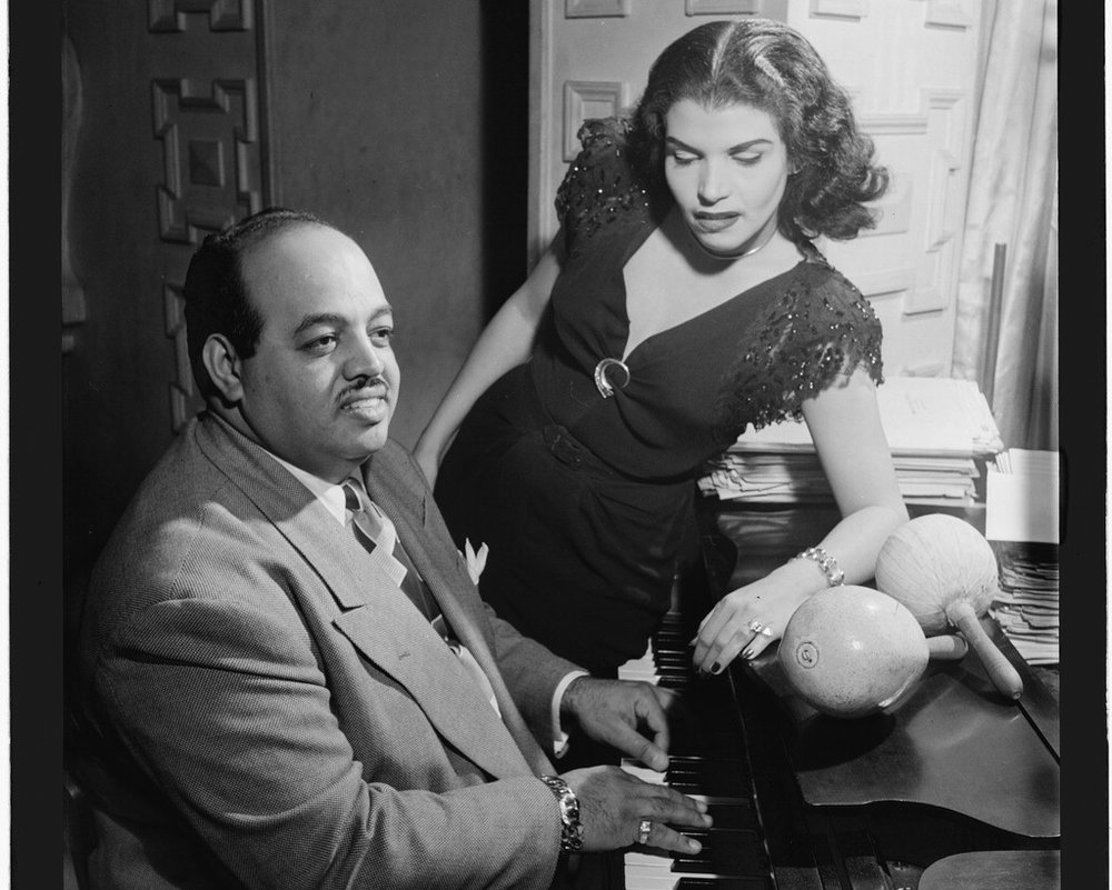 [Portrait of Noro Morales, Glen Island Casino, New York, N.Y., ca. July 1947] (LOC)   Gottlieb, William P., 1917-, photographer.