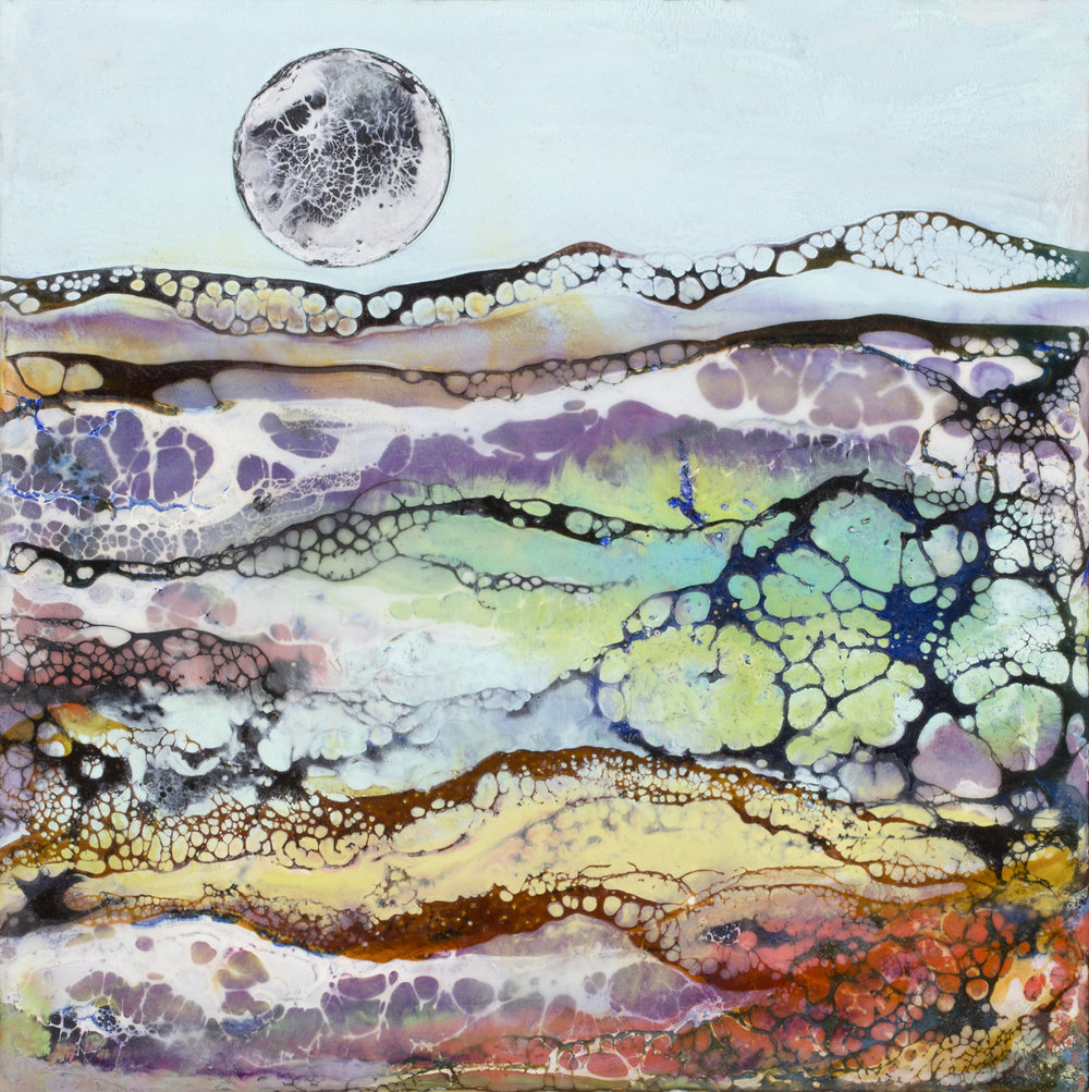 DAY MOON 6x6 inches,  Sold     Prints Available