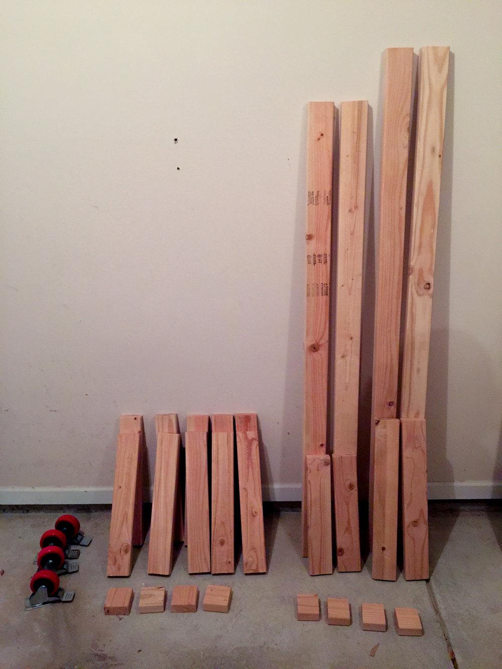 First Workbench - Rough cut 2x4s