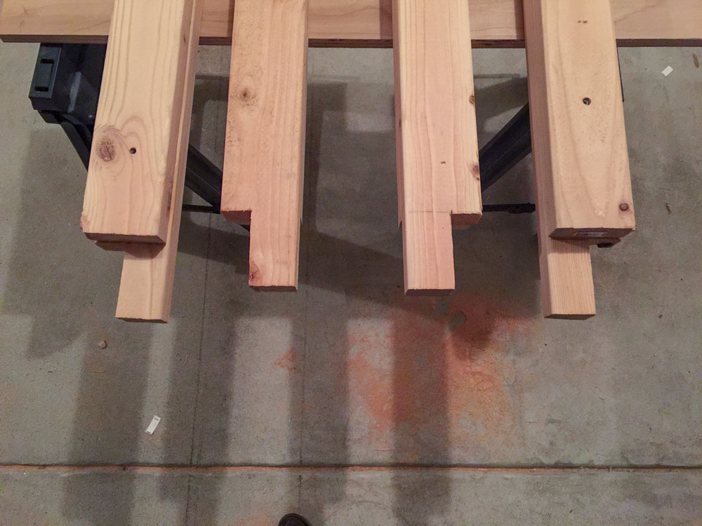 First Workbench - Leg Joinery