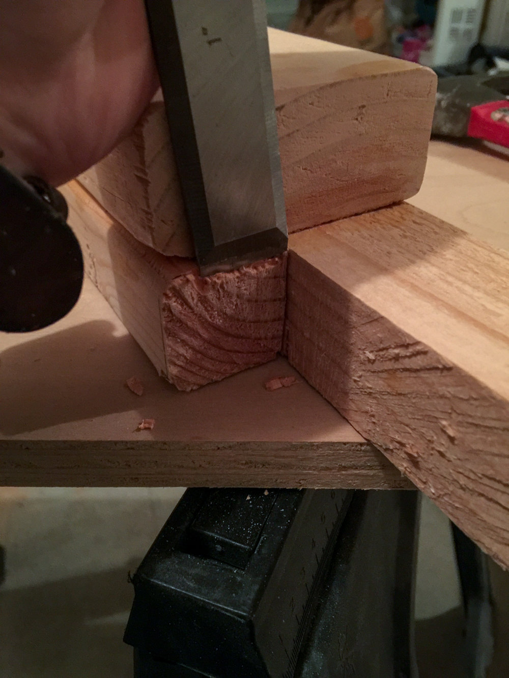 First Workbench - Leg Chisel