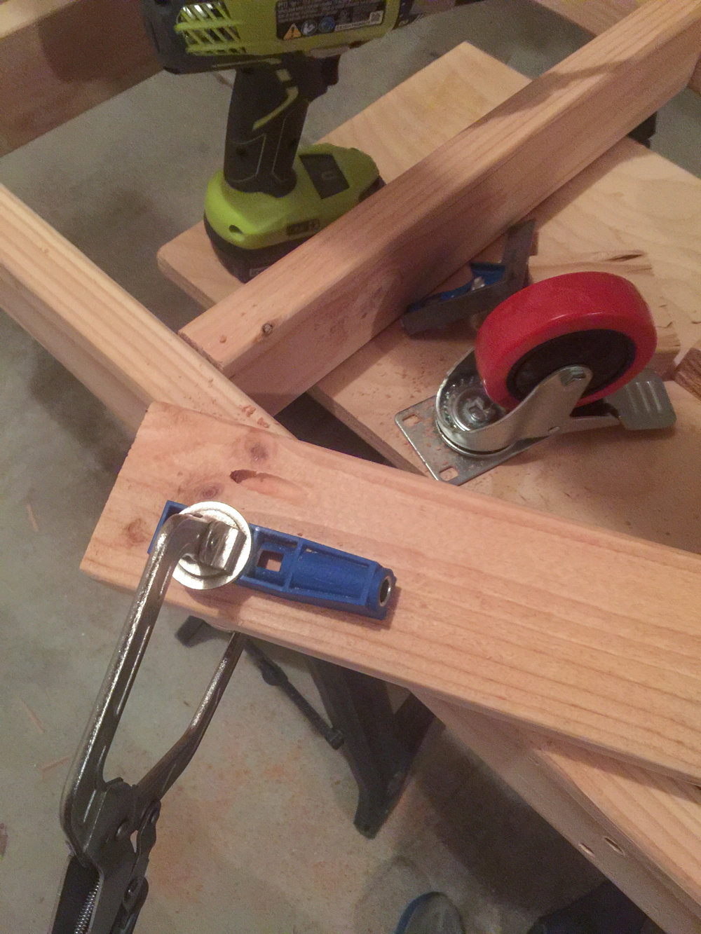 First Workbench - Frame Pocket Holes 2