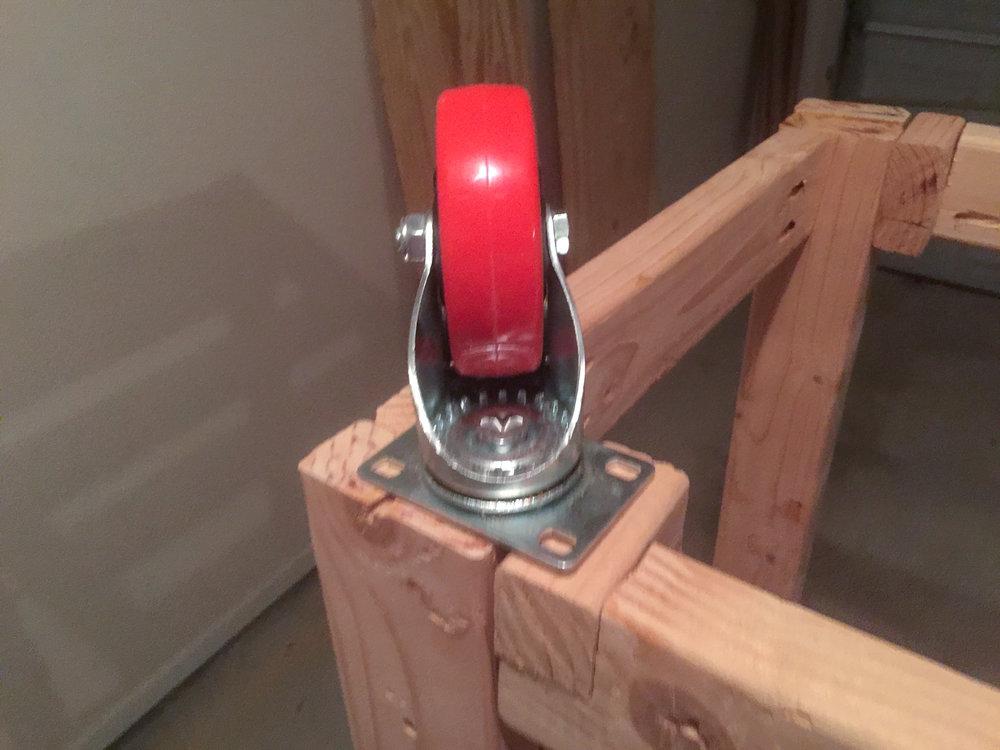 First Workbench - Caster Close Up