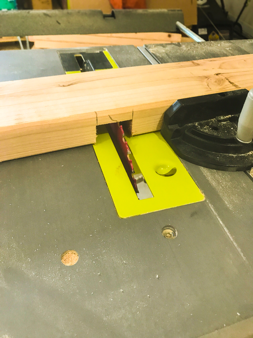 Lumber Cart - Cutting Half Lap Mortises on Table Saw