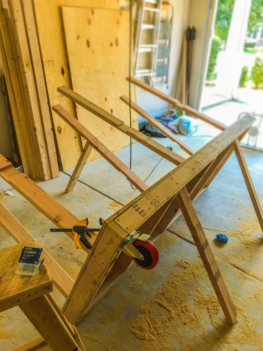 Lumber Cart - Installing Casters