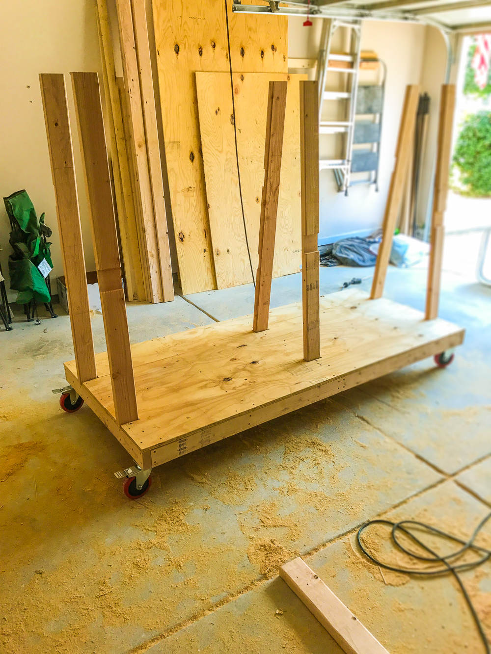 Lumber Cart - Verticals Installed