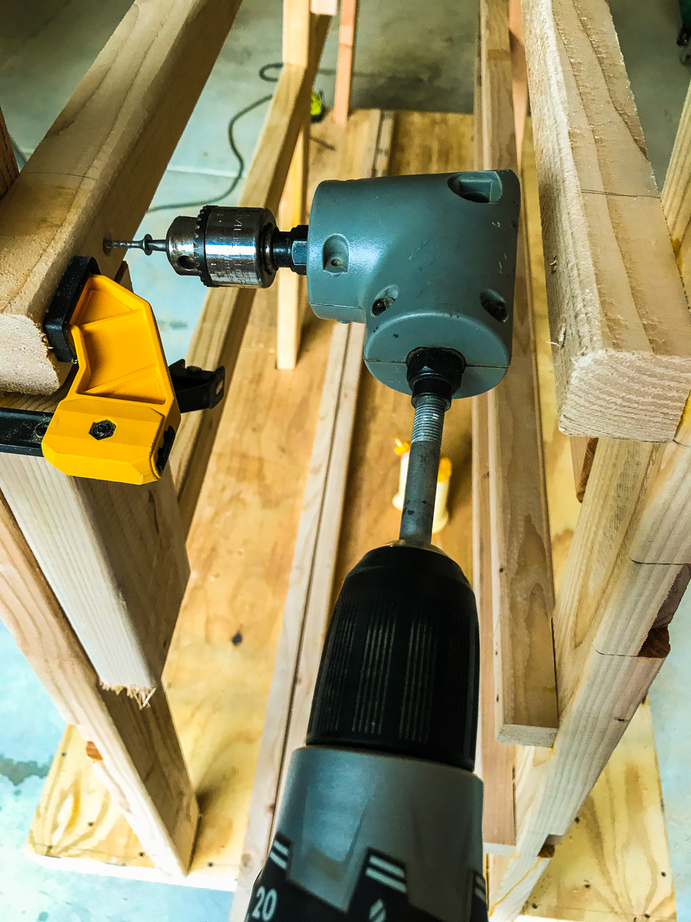 Lumber Cart - Shelf Cleat Right Angle Attachment