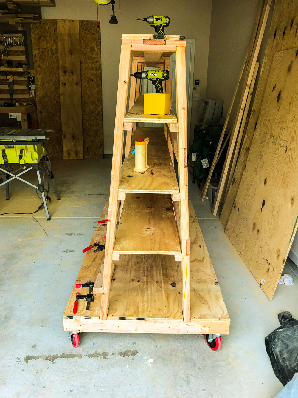 Lumber Cart - Installing Shelves