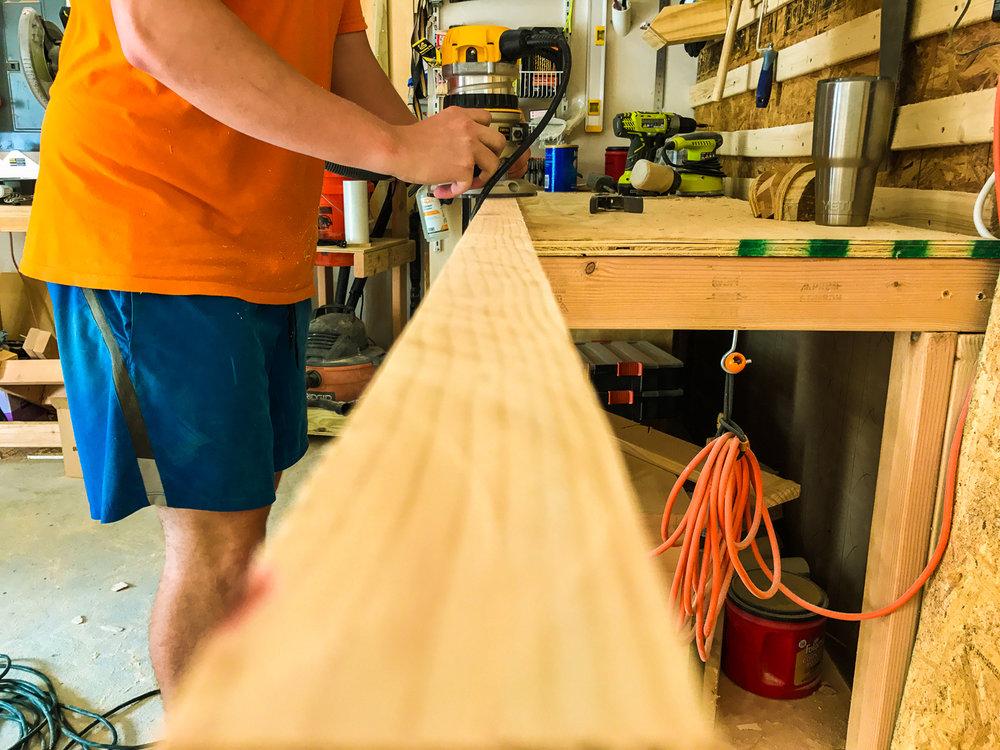 Lumber Cart - Rounding Over Corners