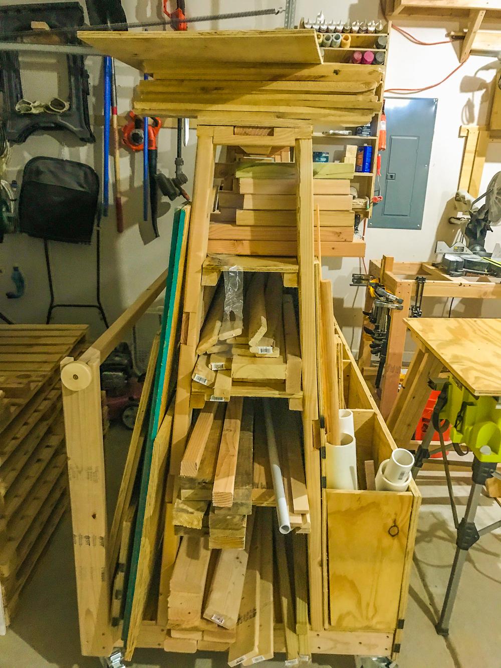 Lumber Cart - Shelves In Use