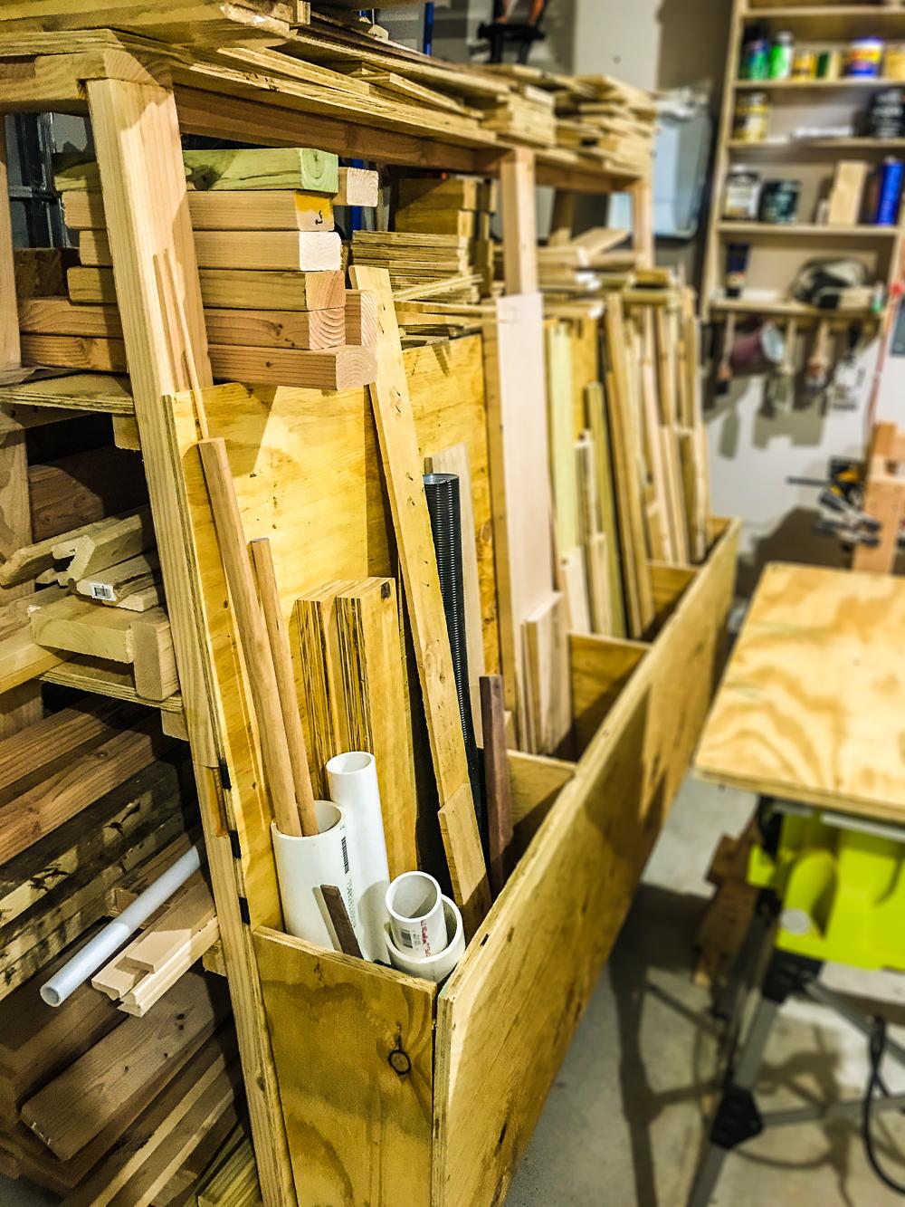 Lumber Cart - Bin In Use