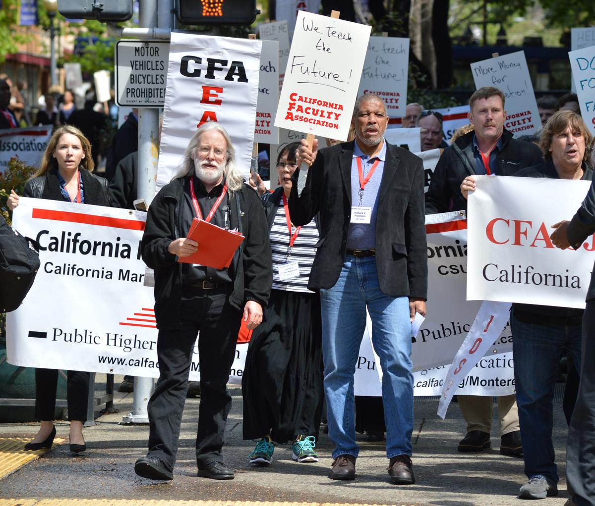 """""""CFA activists march toward the State Capitol on April 7, 2015. Source: Calfac.org"""""""