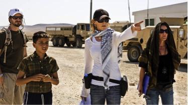 Director Kathryn Bigelow on the set of The Hurt Locker. Source: LA Times