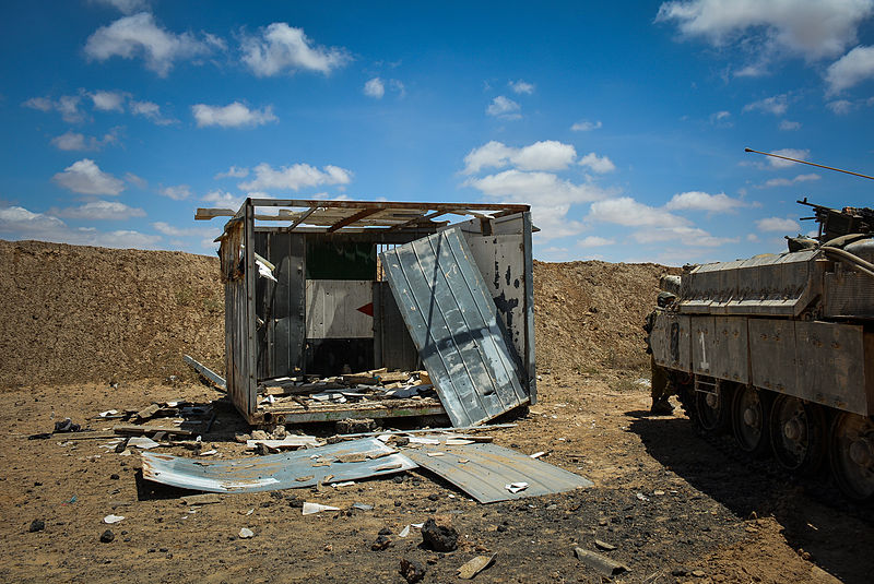 Pictured above is a structure that was uncovered as part of the Hamas-controlled tunnels in Gaza. This structure was an improvised office used as a command center. (Israel Defense Forces)