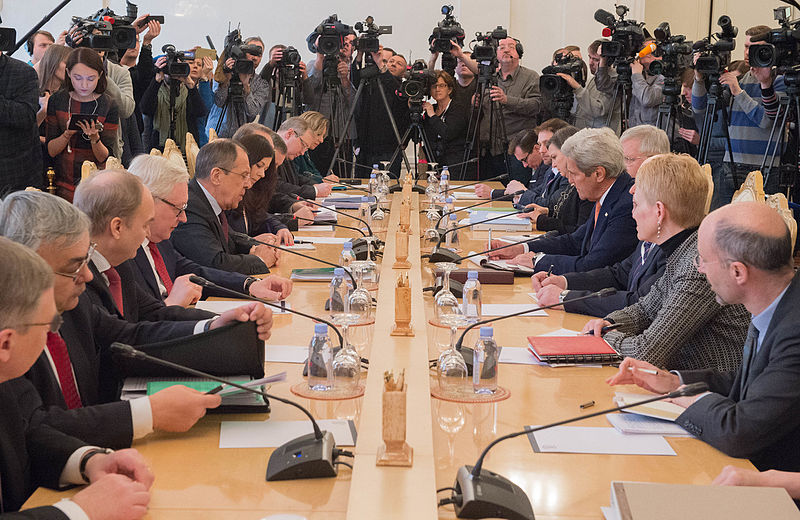 U.S. Secretary of State John Kerry meets with Russian Foreign Minister Sergey Lavrov to discuss Syria and Ukraine in Moscow, Russia, March 24, 2016. (State Department photo/ Public Domain)