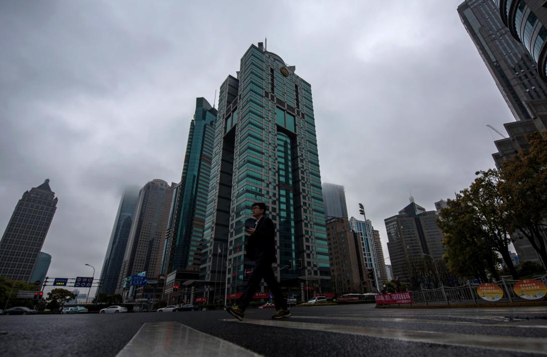 A general view shows a building (C) where the Panama-based law firm Mossack Fonseca has an office in Shanghai on April 6, 2016. The Panamanian law firm at the heart of a massive leak of offshore banking records has more offices in China than any other country, its website shows, raising questions about its activities in the Communist-ruled country. The scandal erupted on April 3 when media groups began revealing the results of a year-long investigation into a trove of 11.5 million documents from Panamanian law firm Mossack Fonseca, which specialises in creating offshore shell companies. / AFP / JOHANNES EISELE (Photo credit should read JOHANNES EISELE/AFP/Getty Images)