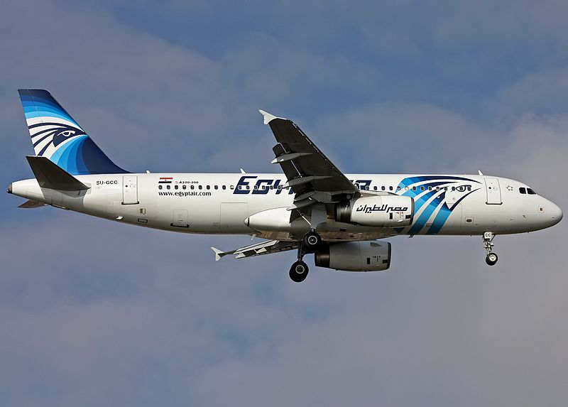 EgyptAir Airbus A320 (SU-GCC) on finals at Ataturk Airport. This aircraft was lost as EgyptAir Flight 804 on 19 May 2016